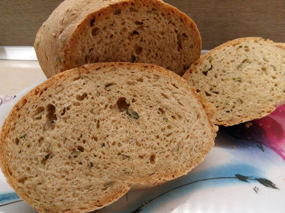 Teljes kiőrlésű kenyér recept zabpehellyel