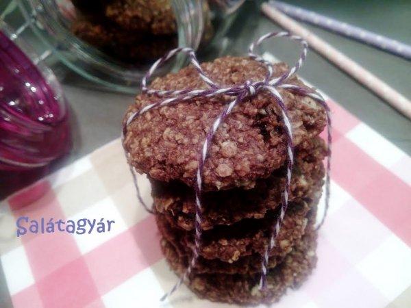 Kakaós kókuszos zabkeksz recept