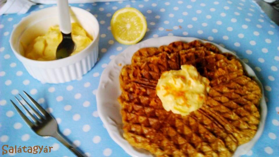 Teljes kiőrlésű gofri diétás citromkrémmel