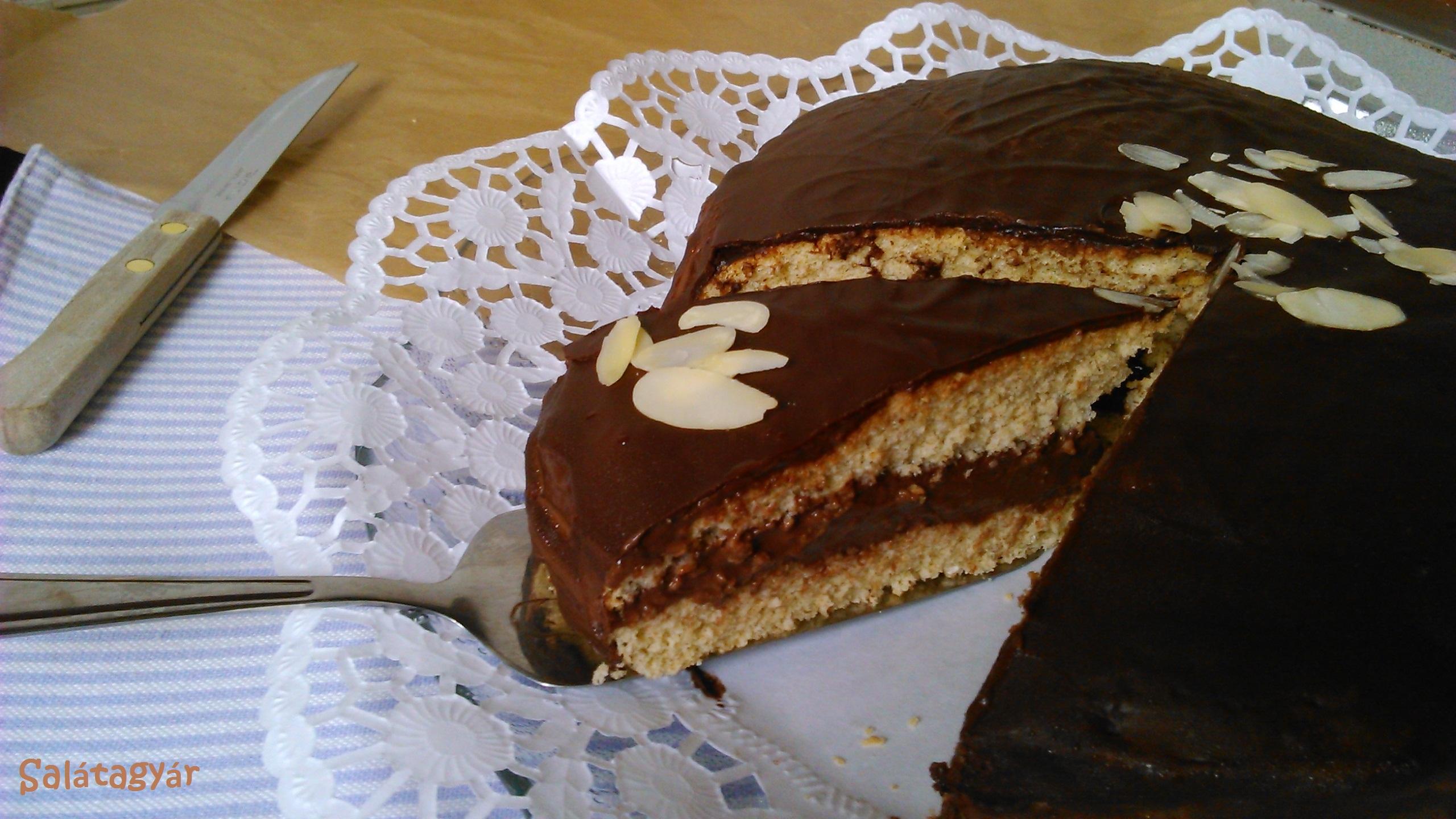 Diétás csokitorta diétás csokikrém, diétás piskóta készítése