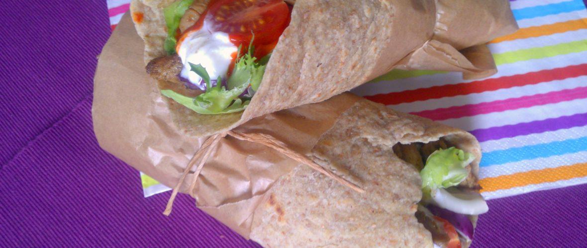 Diétás tortilla teljes kiőrlésű lisztből és zabpehelylisztből