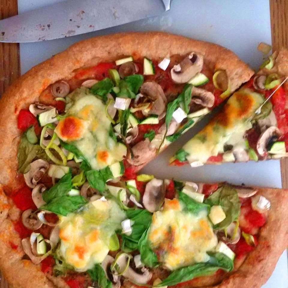 Zabpehelylisztes pizza tészta