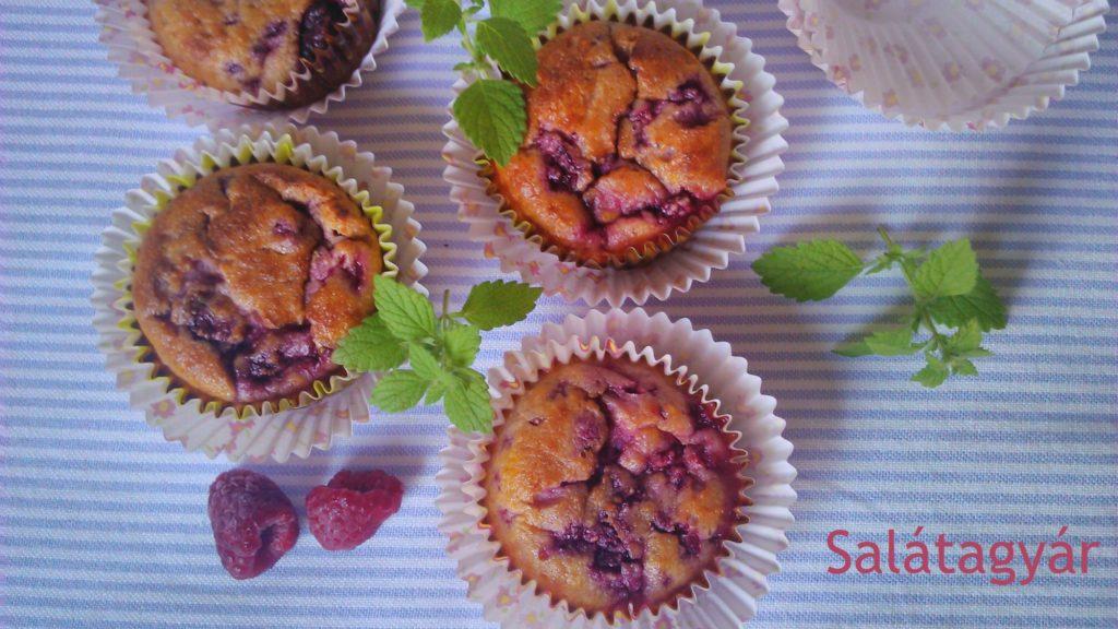 Kókuszlisztes muffin málnával (gluténmentes)
