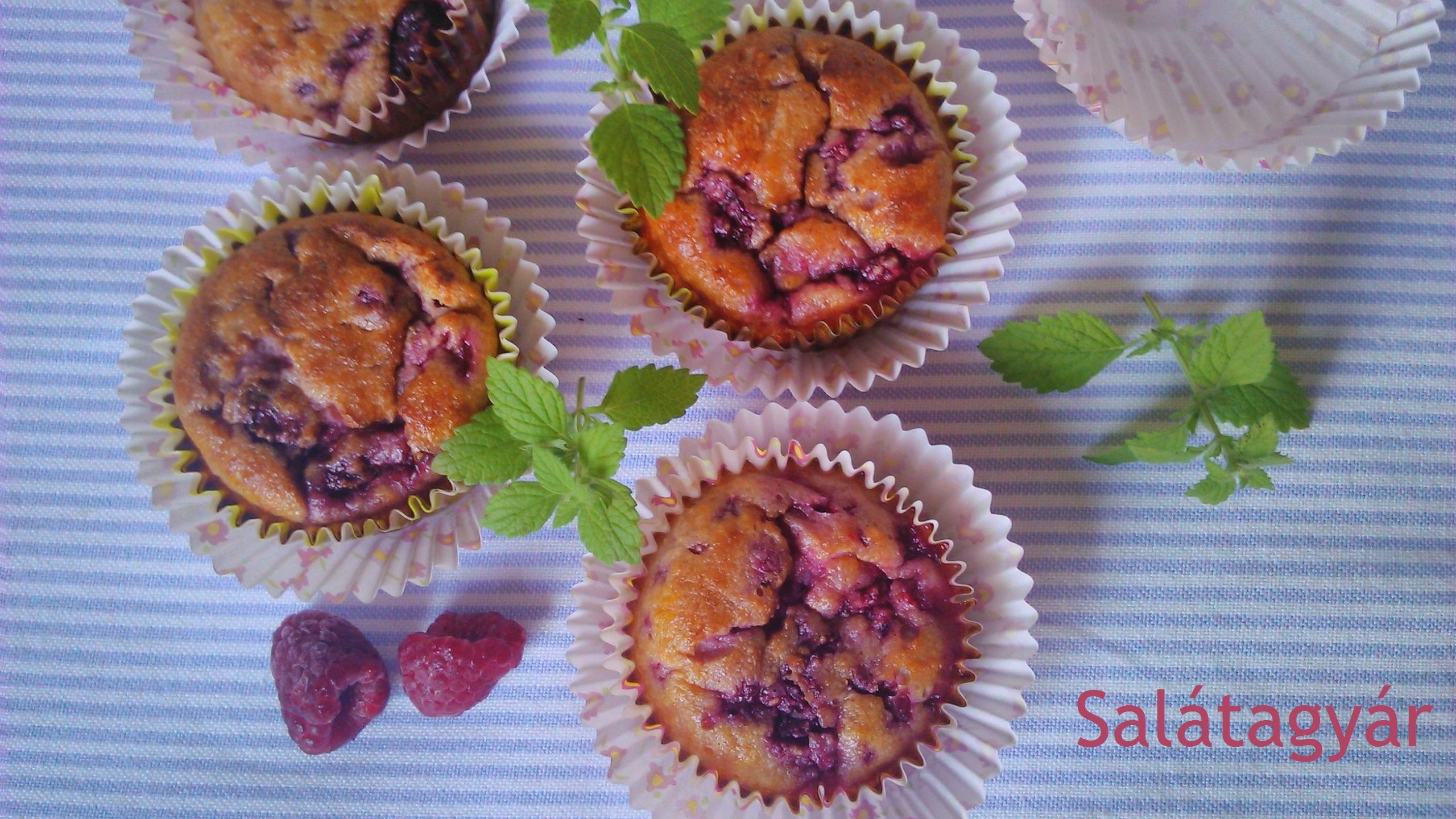 Gyümölcsös kókuszlisztes muffin