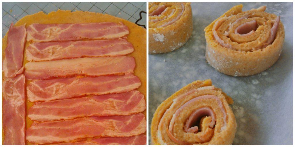 Baconos tekercs elkészítése diétásan