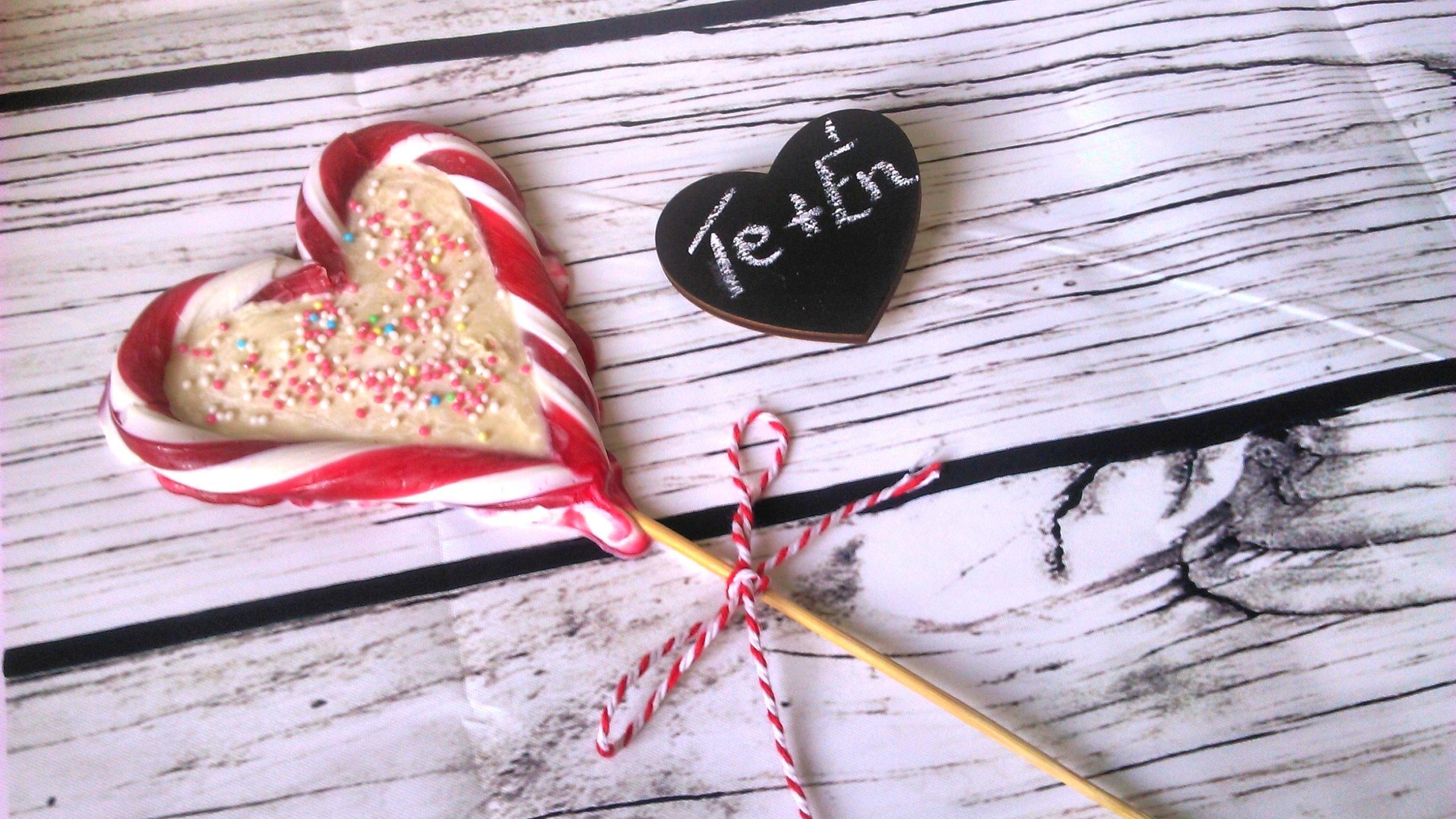 Cukormentes nyalóka szív Valentin napra!