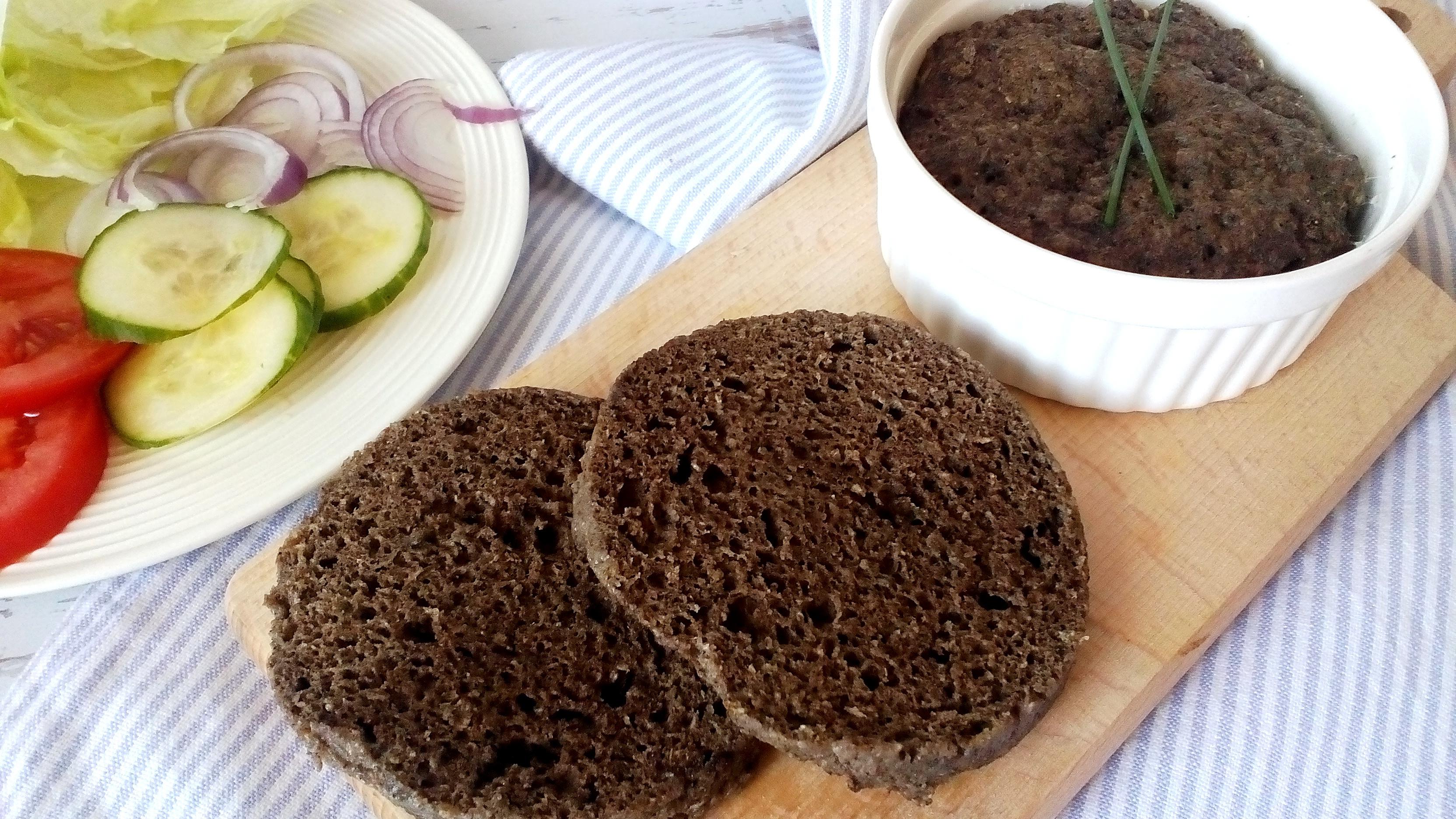 2,5 perces diétás zsemle mikróban (gluténmentes zsemle recept)