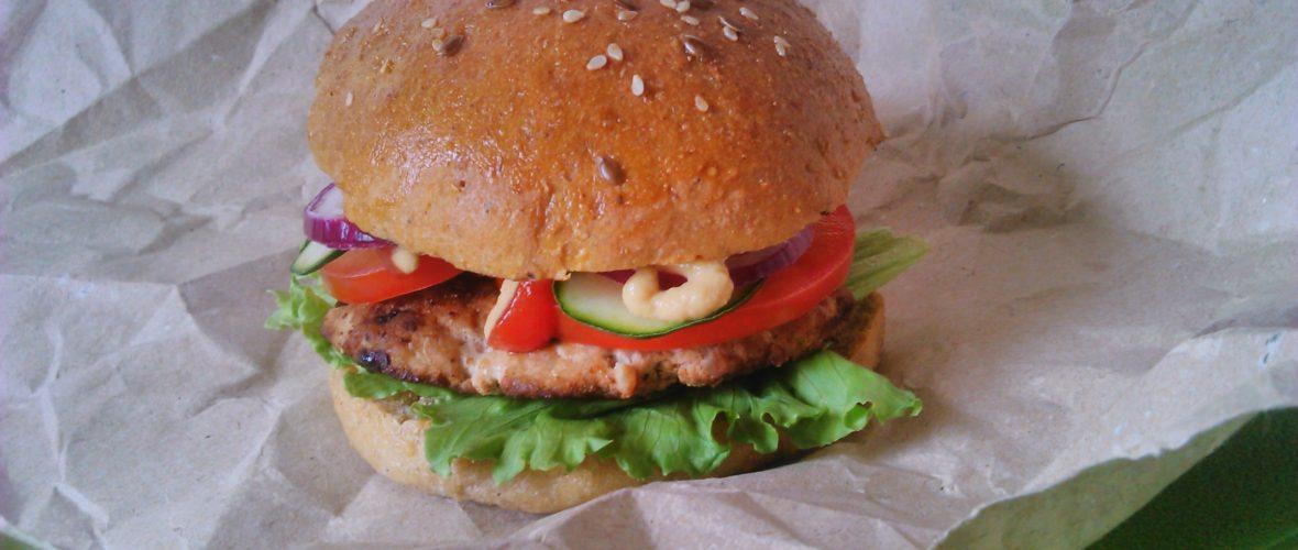 Diétás hamburger zsemle szénhidrátcsökkentett lisztből