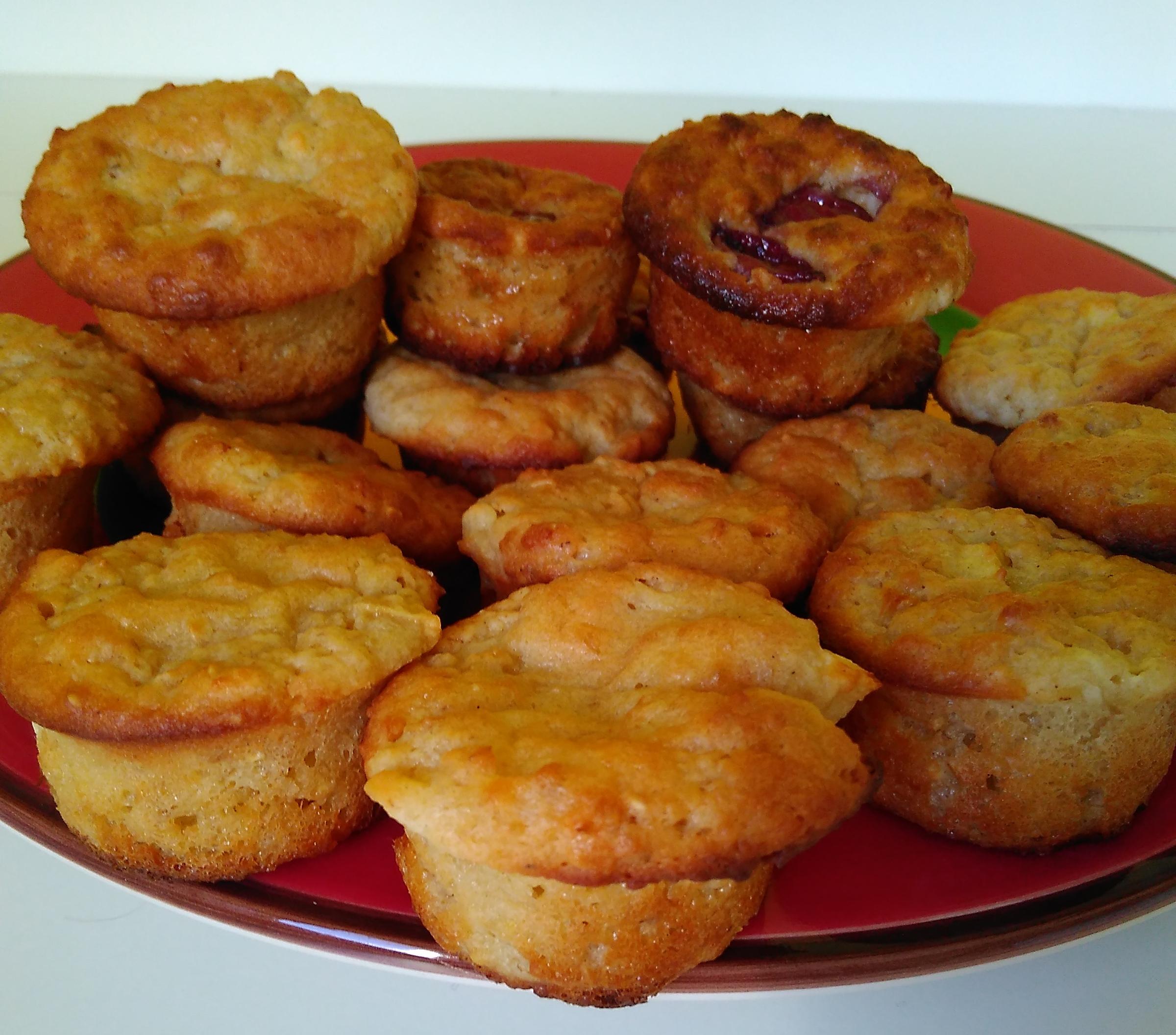 Túrós zabpelyhes muffin
