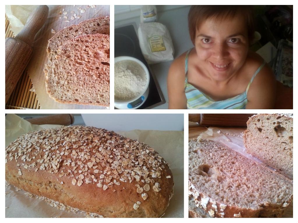 zabkenyér recept, zabpelyhes kenyér recept