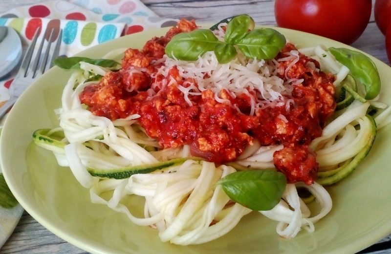 diétás bolognai spagetti cukkini tésztából