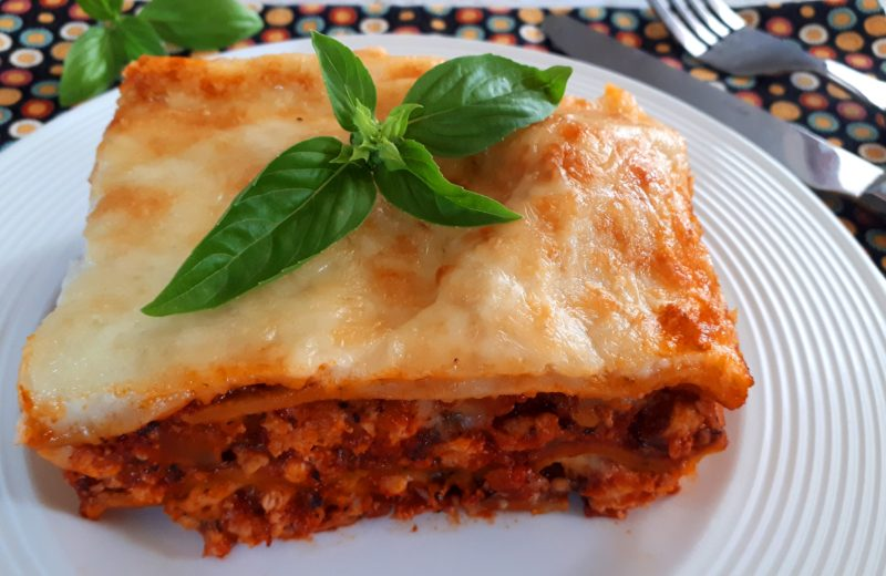 Diétás lasagne szénhidrátcsökkentett házi tésztából
