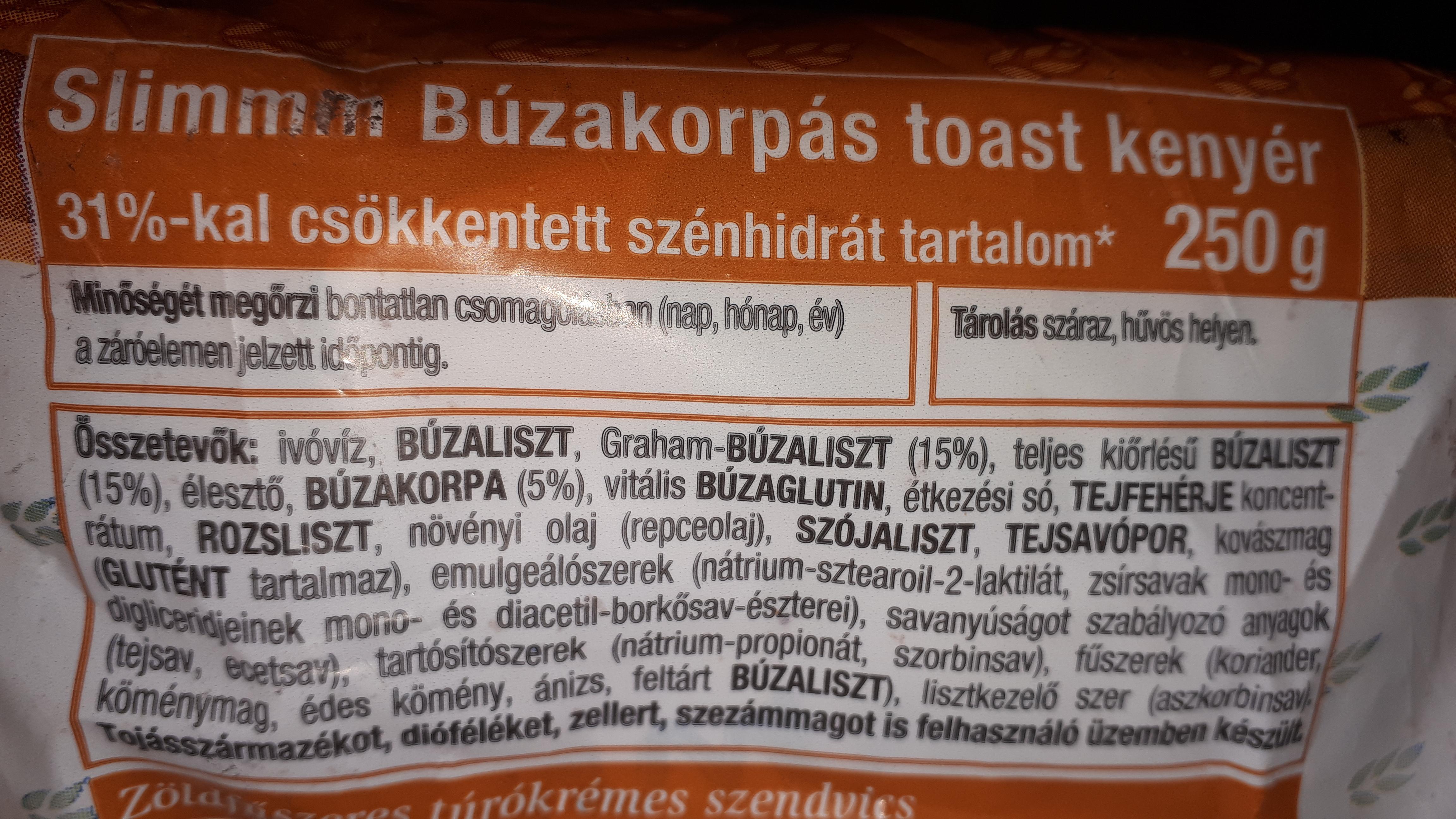 Ceres Slimm búzakorpás csökkentett szénhidráttartalmú kenyér