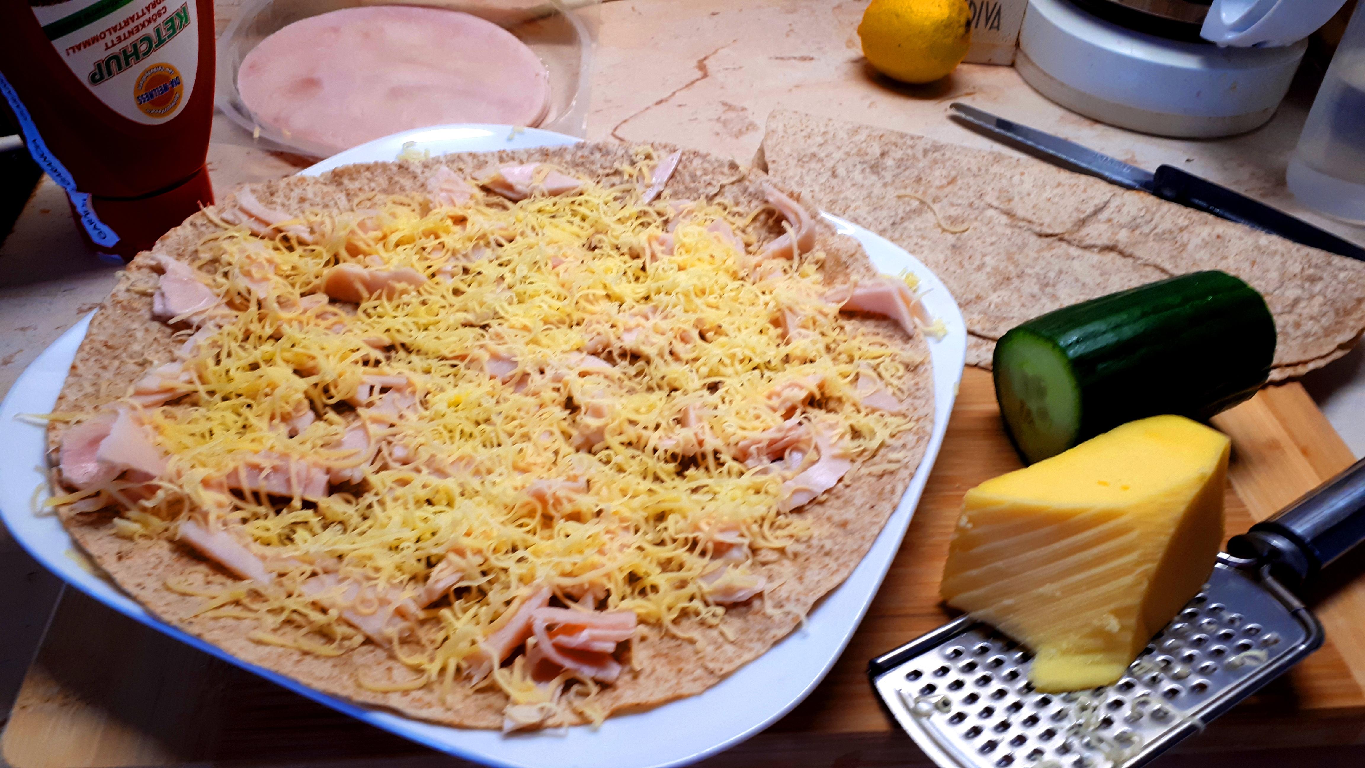 Diétás sonkás sajtos quesadilla recept