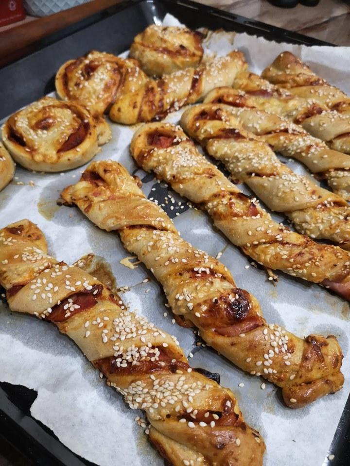 Diétás pizzás csavart szénhidrátcsökkentett lisztből