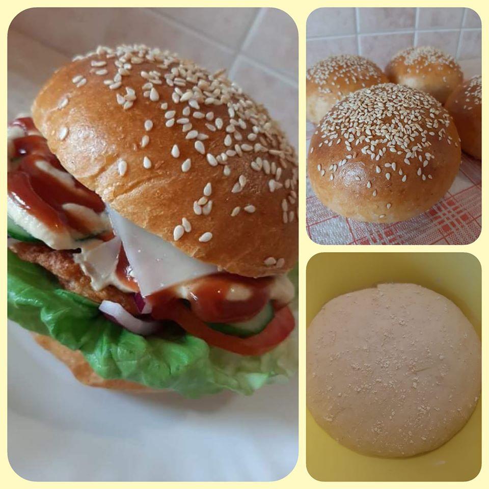 Szénhidrátcsökkentett hamburger zsemle recept