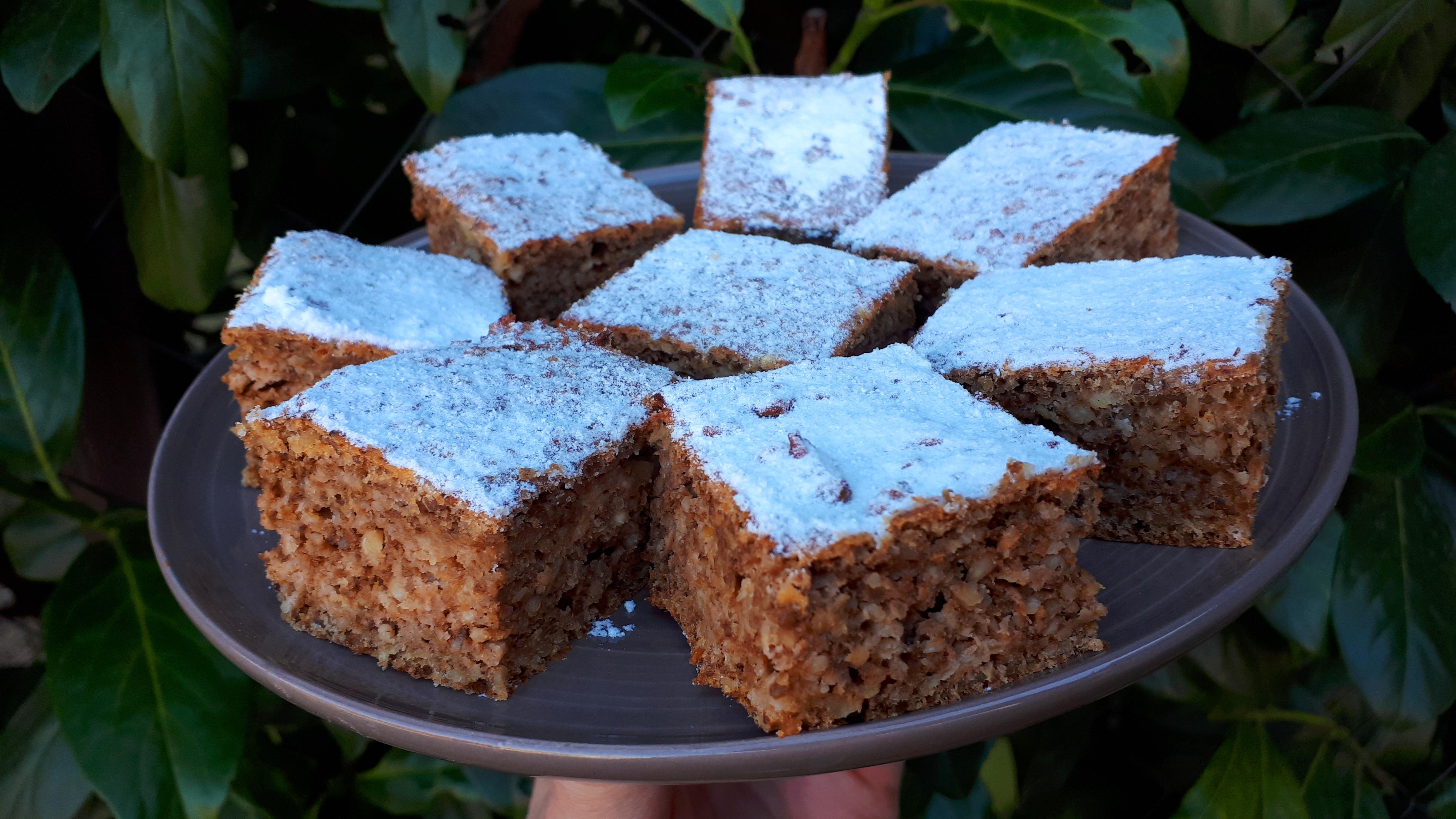Hétköznapi kevert almás diós süti diétásan