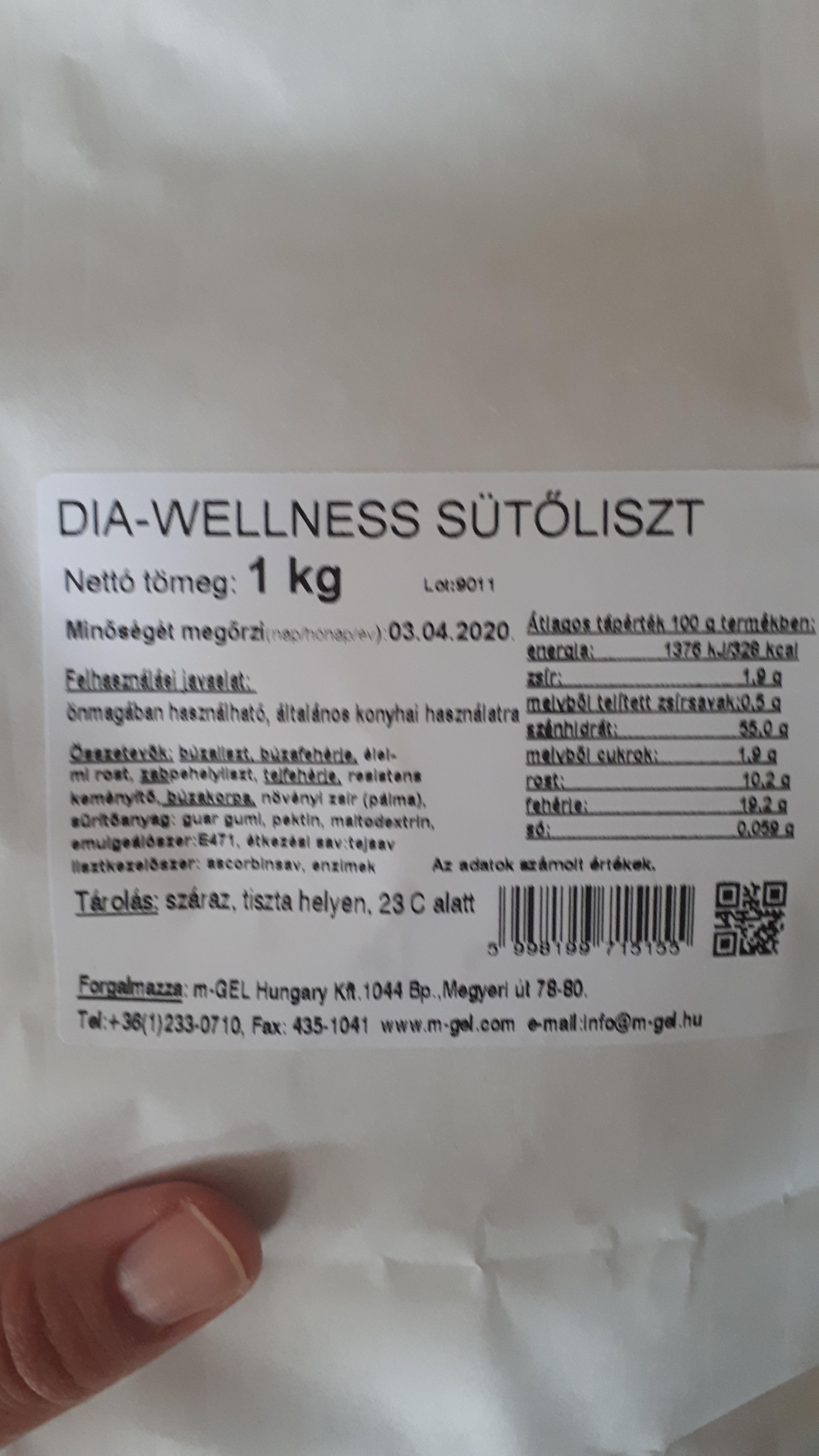 Dia Wellness Sütőliszt összetétele, tápértéke