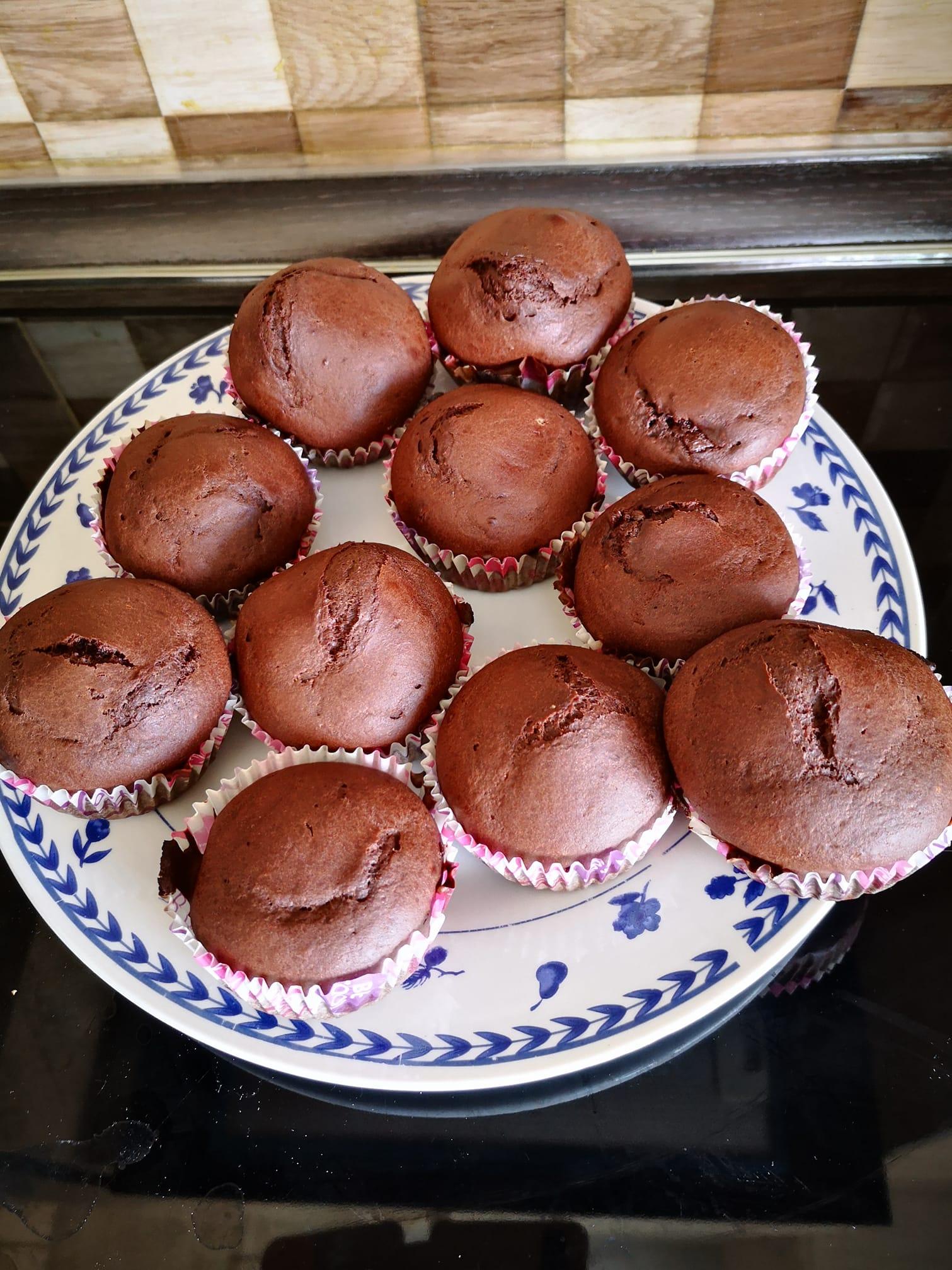 Szénhidrátcsökkentett diétás csokis muffin recept