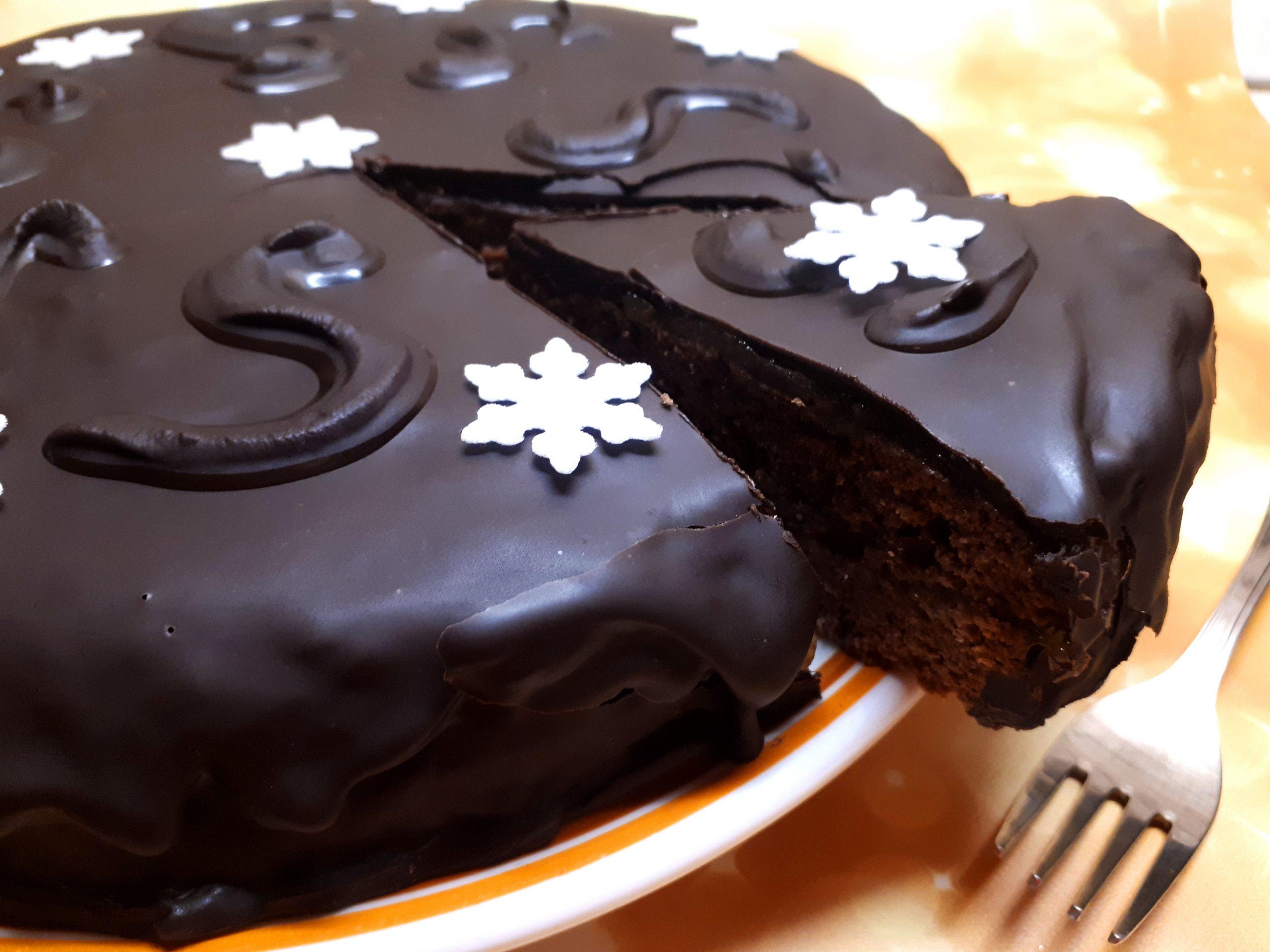 Diétás Sacher torta (cukormentes, szénhidrátcsökkentett)