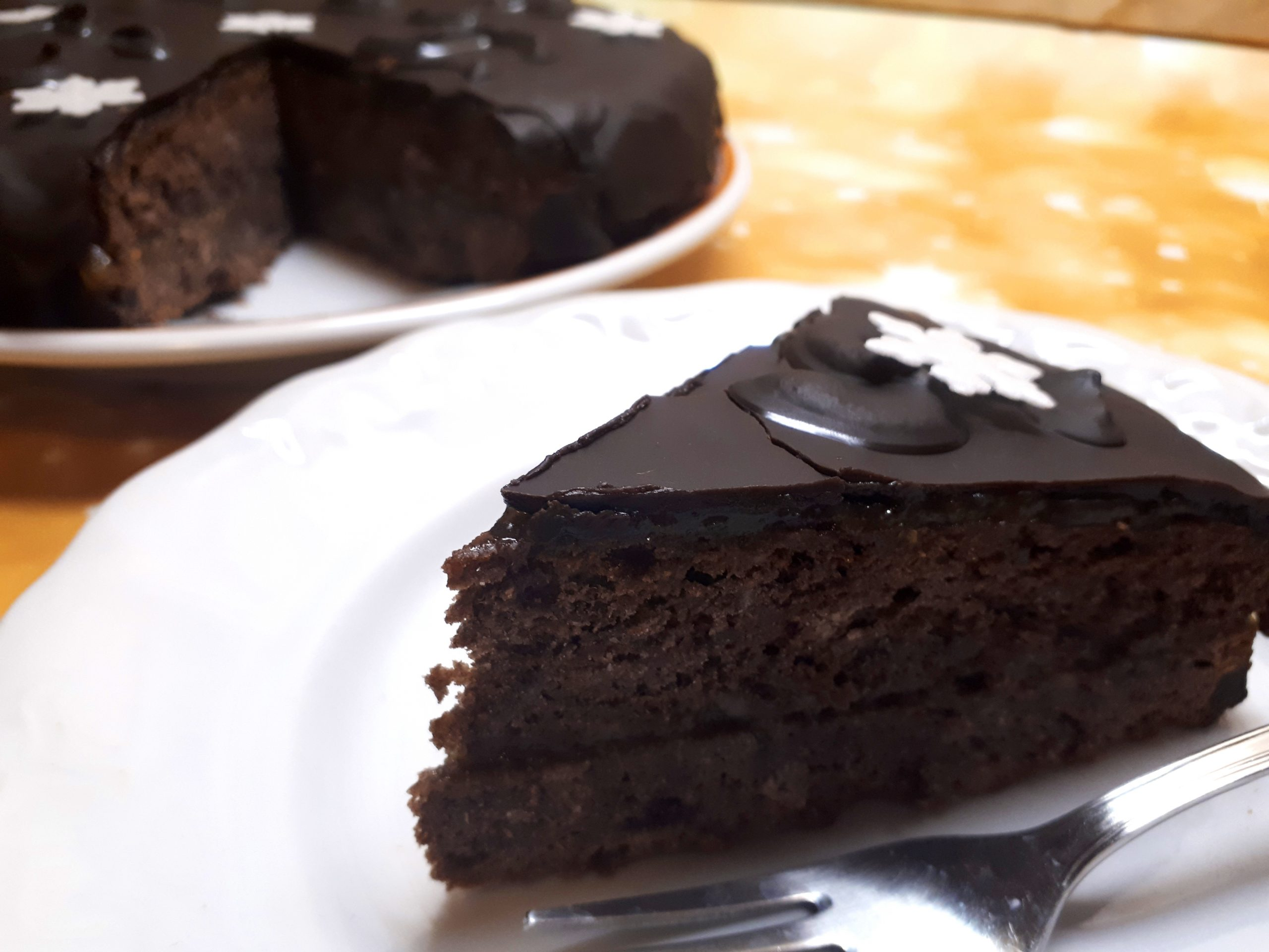 Cukormentes diétás Sacher torta recept Dia Wellness szénhidrátcsökkentett lisztből