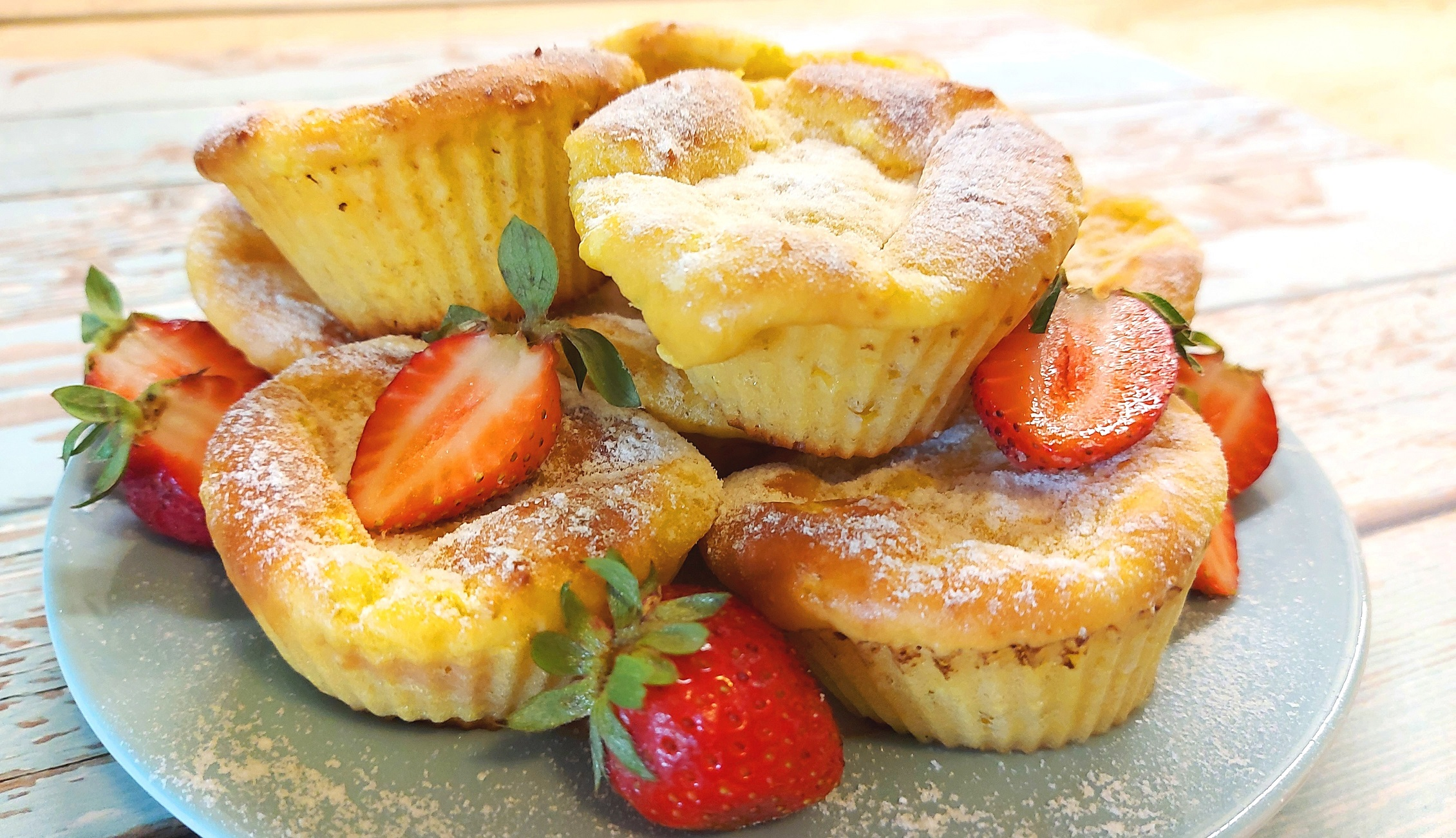Lisztmentes cukkinis protein muffin