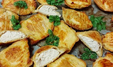 Diétás palacsintatésztában sült csirkemell sütőben sütve Dia Wellness szénhidrátcsökkentett lisztből